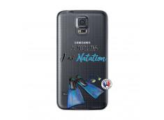Coque Samsung Galaxy S5 Je Peux Pas J Ai Natation