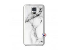 Coque Samsung Galaxy S5 White Marble Translu