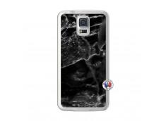 Coque Samsung Galaxy S5 Black Marble Translu