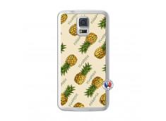 Coque Samsung Galaxy S5 Sorbet Ananas Translu