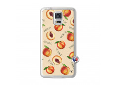 Coque Samsung Galaxy S5 Sorbet Pêche Translu