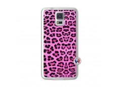 Coque Samsung Galaxy S5 Pink Leopard Translu