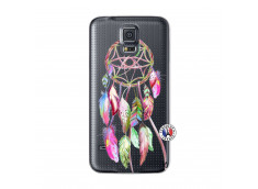 Coque Samsung Galaxy S5 Pink Painted Dreamcatcher