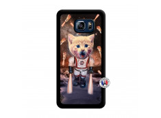 Coque Samsung Galaxy S6 Edge Plus Cat Nasa Noir