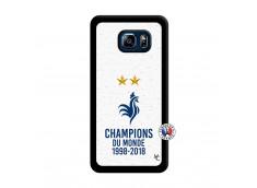 Coque Samsung Galaxy S6 Edge Plus Champion Du Monde Noir