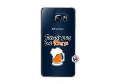 Coque Samsung Galaxy S6 Edge Plus Jamais Sans Ma Rousse