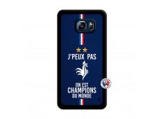 Coque Samsung Galaxy S6 Edge Plus Je Peux Pas On Est Les Champions Du Monde Noir