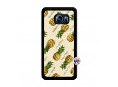 Coque Samsung Galaxy S6 Edge Plus Sorbet Ananas Noir