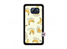 Coque Samsung Galaxy S6 Edge Plus Sorbet Banana Split Noir