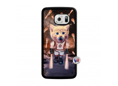 Coque Samsung Galaxy S6 Edge Cat Nasa Translu