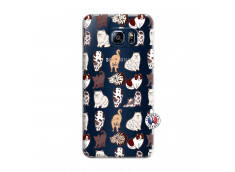 Coque Samsung Galaxy S6 Edge Cat Pattern