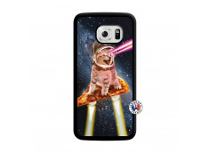 Coque Samsung Galaxy S6 Edge Cat Pizza Translu
