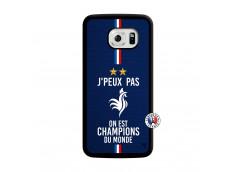 Coque Samsung Galaxy S6 Edge Je Peux Pas On Est Les Champions Du Monde Translu
