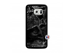 Coque Samsung Galaxy S6 Edge Black Marble Translu