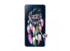 Coque Samsung Galaxy S6 Edge Pink Painted Dreamcatcher