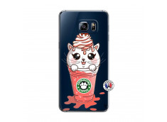 Coque Samsung Galaxy S6 Edge Catpucino Ice Cream