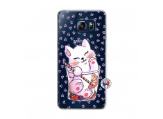 Coque Samsung Galaxy S6 Edge Smoothie Cat
