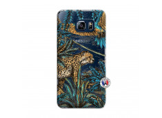 Coque Samsung Galaxy S6 Edge Leopard Jungle