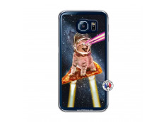 Coque Samsung Galaxy S6 Cat Pizza Translu