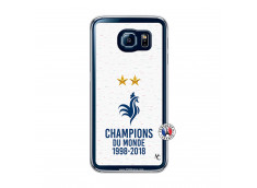 Coque Samsung Galaxy S6 Champion Du Monde Translu