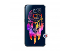 Coque Samsung Galaxy S6 Dreamcatcher Rainbow Feathers