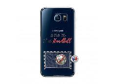 Coque Samsung Galaxy S6 Je peux pas j'ai Handball