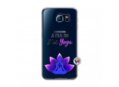 Coque Samsung Galaxy S6 Je Peux Pas J Ai Yoga