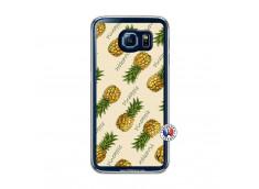 Coque Samsung Galaxy S6 Sorbet Ananas Translu
