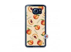 Coque Samsung Galaxy S6 Sorbet Pêche Translu
