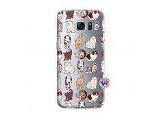 Coque Samsung Galaxy S7 Edge Cat Pattern