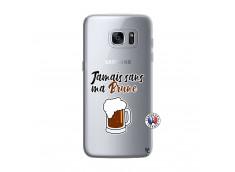 Coque Samsung Galaxy S7 Edge Jamais Sans Ma Brune