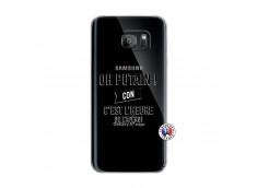 Coque Samsung Galaxy S7 Edge Oh Putain C Est L Heure De L Apero