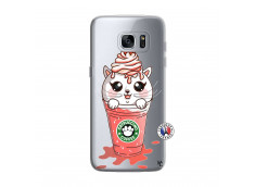 Coque Samsung Galaxy S7 Edge Catpucino Ice Cream