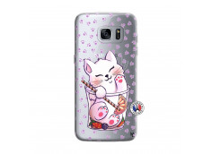 Coque Samsung Galaxy S7 Edge Smoothie Cat