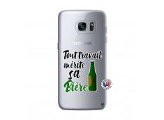 Coque Samsung Galaxy S7 Edge Tout Travail Merite Sa Biere