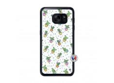 Coque Samsung Galaxy S7 Le Monde Entier est un Cactus Translu