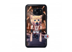 Coque Samsung Galaxy S7 Cat Nasa Translu