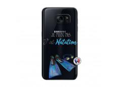 Coque Samsung Galaxy S7 Je Peux Pas J Ai Natation