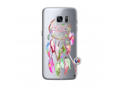 Coque Samsung Galaxy S7 Pink Painted Dreamcatcher