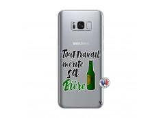 Coque Samsung Galaxy S8 Plus Tout Travail Merite Sa Biere