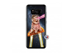 Coque Samsung Galaxy S8 Cat Pizza Translu