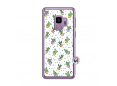 Coque Samsung Galaxy S9 Le Monde Entier est un Cactus Translu