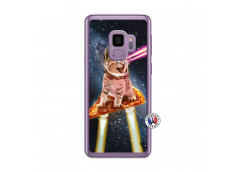 Coque Samsung Galaxy S9 Cat Pizza Translu