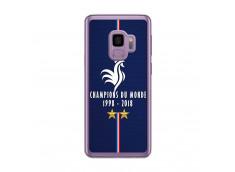 Coque Samsung Galaxy S9 Champions Du Monde 1998 2018 Transparente