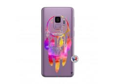 Coque Samsung Galaxy S9 Dreamcatcher Rainbow Feathers