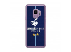 Coque Samsung Galaxy S9 Plus Champions Du Monde 1998 2018 Transparente