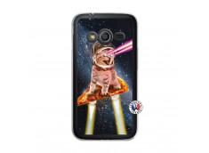 Coque Samsung Galaxy Trend 2 Lite Cat Pizza Translu