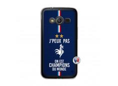 Coque Samsung Galaxy Trend 2 Lite Je Peux Pas On Est Les Champions Du Monde Translu