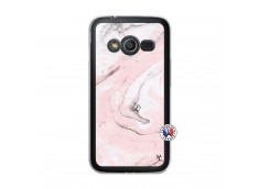 Coque Samsung Galaxy Trend 2 Lite Marbre Rose Translu