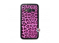 Coque Samsung Galaxy Trend 2 Lite Pink Leopard Translu